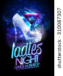 ladies night poster... | Shutterstock .eps vector #310087307