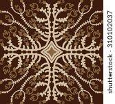 circular   pattern of floral... | Shutterstock .eps vector #310102037