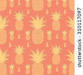 pineapple pattern | Shutterstock .eps vector #310117097