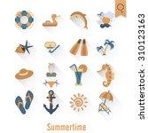 summer and beach simple flat... | Shutterstock . vector #310123163