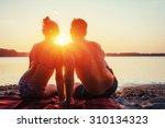 Romantic Couple On The Beach A...