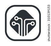 vector illustration of computer ... | Shutterstock .eps vector #310139153