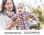 cute 6 months old baby with... | Shutterstock . vector #310139933
