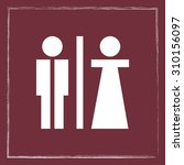 male and female sign icon ... | Shutterstock .eps vector #310156097