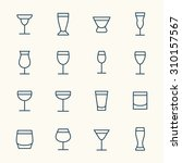 alcoholic beverages line icons | Shutterstock .eps vector #310157567
