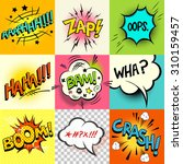 comic book speech bubbles and... | Shutterstock .eps vector #310159457