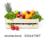 crate with fruits and vegetable | Shutterstock . vector #310167587