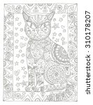 Flower Cat Coloring Page...