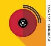fire alarm flat icon | Shutterstock .eps vector #310179083