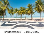 palm trees and the iconic... | Shutterstock . vector #310179557