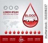 blood donation vector concept   ... | Shutterstock .eps vector #310208237