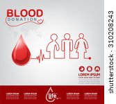 blood donation vector concept   ... | Shutterstock .eps vector #310208243