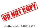 Do Not Copy Red Stamp Text On...