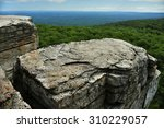 Massive Rocks And View To The...