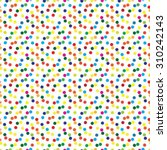 abstract multicolored polka... | Shutterstock .eps vector #310242143