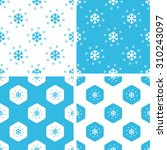snow patterns set  simple and...