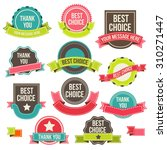 collection of labels and... | Shutterstock . vector #310271447