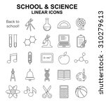 school and science  linear... | Shutterstock . vector #310279613