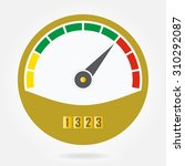 speedometer or tachometer icon... | Shutterstock .eps vector #310292087