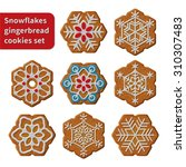 gingerbread snowflakes cookies...