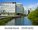 Leeds, Modern Business Building - stock photo