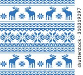seamless christmas pattern with ... | Shutterstock .eps vector #310319297
