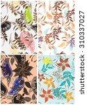 floral seamless pattern  ... | Shutterstock .eps vector #310337027
