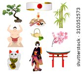 national symbols of japan ... | Shutterstock .eps vector #310352573