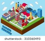 industrial buildings isometric...   Shutterstock . vector #310360493