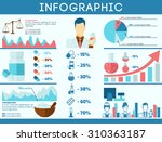 pharmacy infographics set with... | Shutterstock . vector #310363187