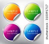 abstract vector sticker set....   Shutterstock .eps vector #310391717