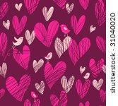 cute cartoon hearts   seamless...   Shutterstock . vector #31040020