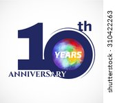 10 years anniversary template... | Shutterstock .eps vector #310422263
