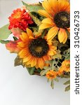 Bouquet Of Fall Flowers With...