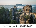 the bastei bridge  saxon... | Shutterstock . vector #310459403