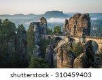the bastei bridge  saxon... | Shutterstock . vector #310459403