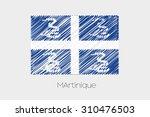 a scribbled flag illustration... | Shutterstock .eps vector #310476503