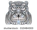 ethnic hippo | Shutterstock .eps vector #310484303