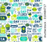 seamless background with tea... | Shutterstock .eps vector #310484717
