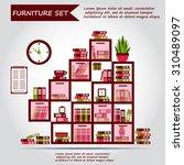 illustration of office... | Shutterstock .eps vector #310489097