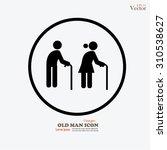 elder icon.old man.vector...   Shutterstock .eps vector #310538627