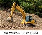 heavy excavator construction... | Shutterstock . vector #310547033