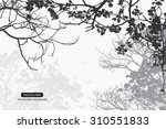 trees and branches silhouette... | Shutterstock .eps vector #310551833
