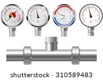 manometer set and chrome pipe...