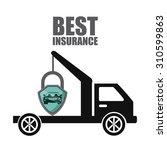 best insurance design  vector... | Shutterstock .eps vector #310599863