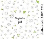 vegetables vector illustration | Shutterstock .eps vector #310614953