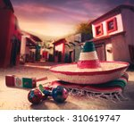 Mexican Fiesta Background With...