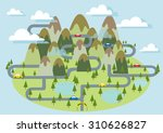 tourism mountain national park... | Shutterstock .eps vector #310626827