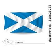 flag of scotland   vector... | Shutterstock .eps vector #310629233