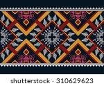 geometric ethnic pattern... | Shutterstock .eps vector #310629623